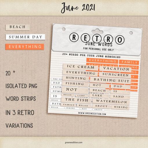 Retro June Words