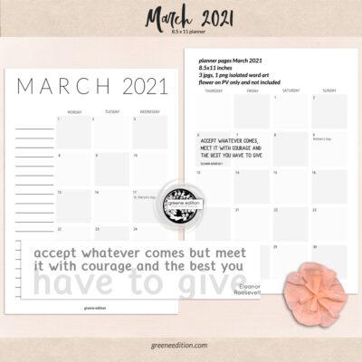 Planner March 2021