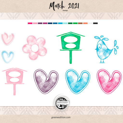March 2021 stamps
