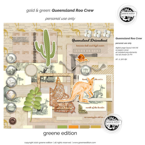 roo, gold&green Roo Crew Layout Kit
