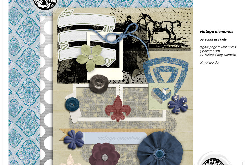 May 2020 New Free Kit Vintage Memories
