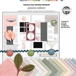 New Free Valentine Notebook Kit