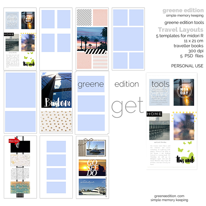Greene Edition Tools GET Traveler Template Pack 01