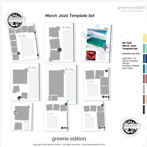 greene edition, My Tribe Templates, My Tribe mini Kit, greene edition, copyright 2020 greeneedition.com
