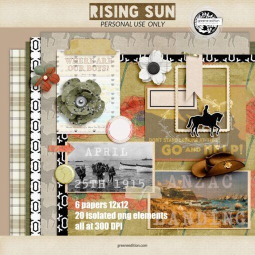 greene edition, Rising Sun Digital Layout Kit