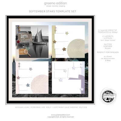 greene edition - September Stars Template Set - copyright greene edition 2018