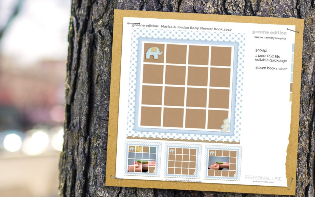 New Freebie Template: Pixel Scrapper Baby Book Maker