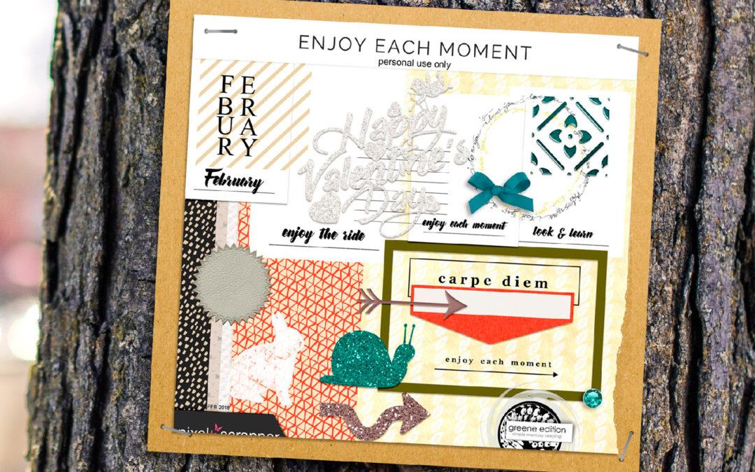 enjoy each moment free scrapbooking kit