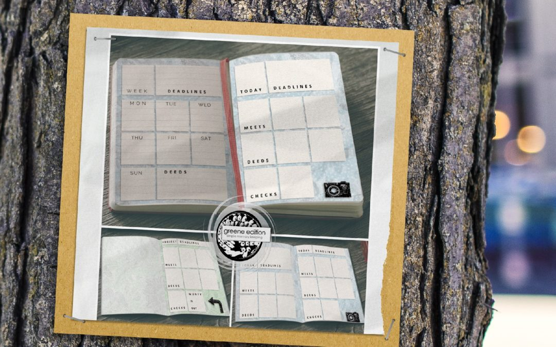 greene edition - planner template - 6x8 Planner Page Templates