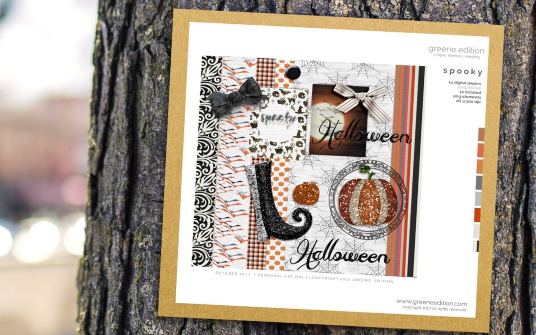Digital Scrapbooking Freebie: Spooky Kit