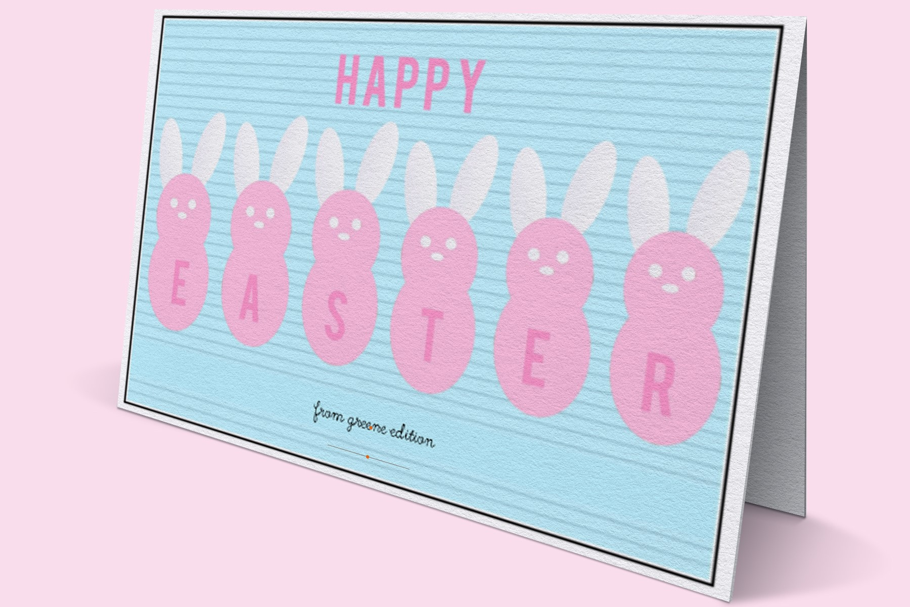 greene edition - easter Card 2018 freebie- free digital scrapbooking