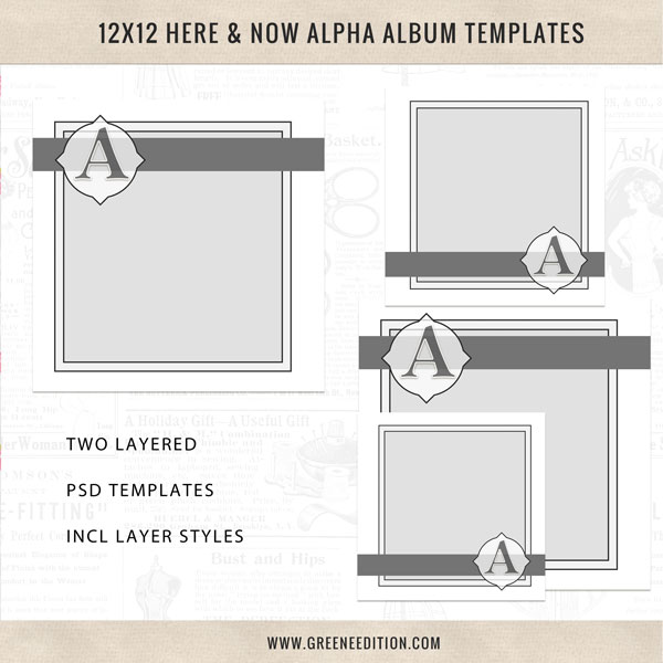 New Easy Here and Now Alpha Album Templates