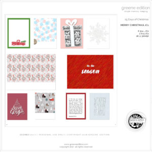 gree edition - freebie- pocket cards -25 Days of Christmas Freebie - Merry Christmas JC's