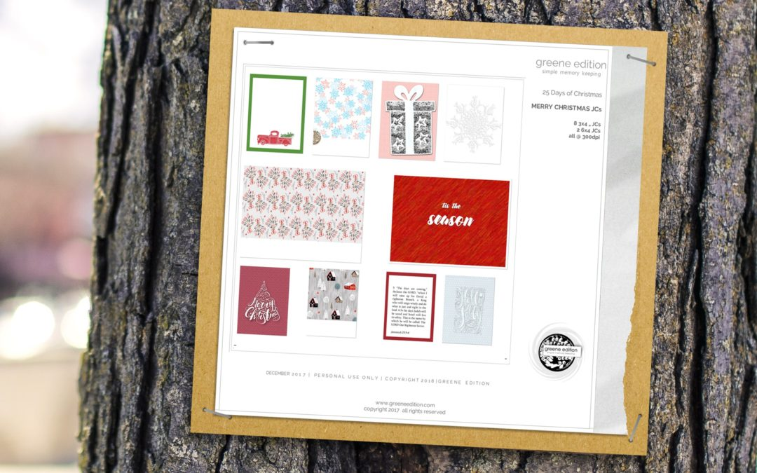 greene edition - digital scrapbooking freebie- merry christmas- pocket cards