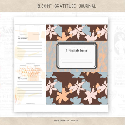 gratitude journal, greene edition